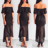 Tragic Love Midi Dress - Black