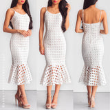 Wanting You Midi Dress - White