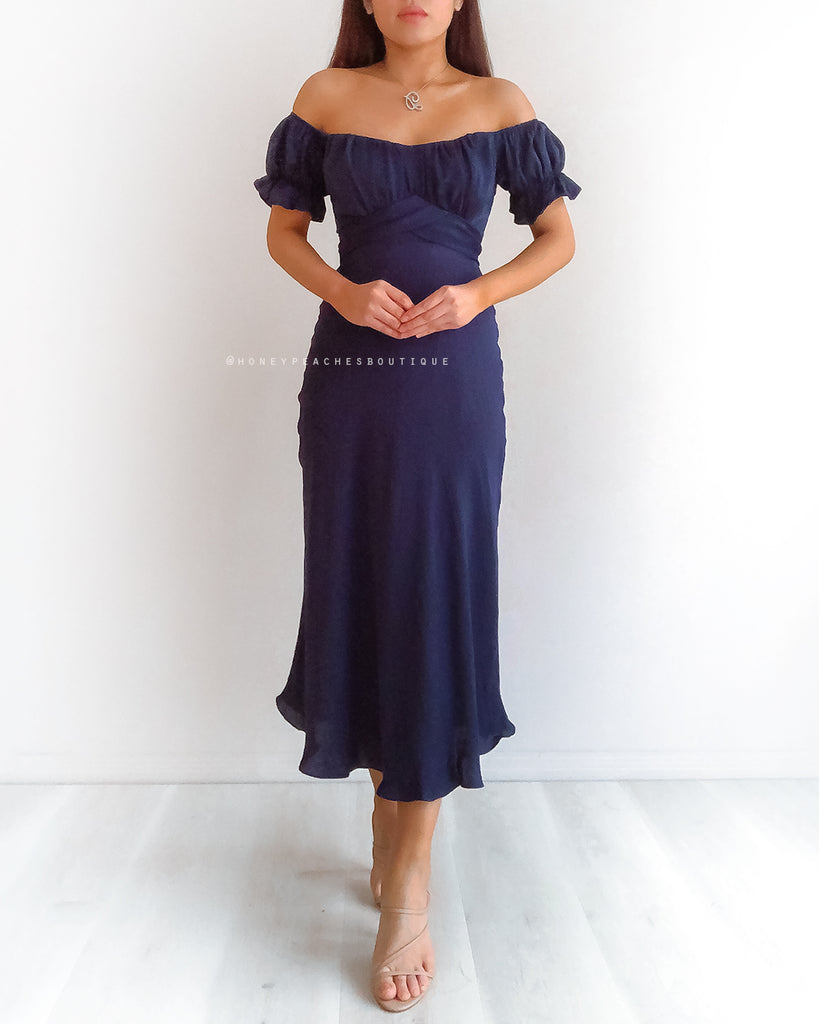 Dinah Midi Dress - Navy