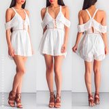 Keep On Loving Playsuit - White