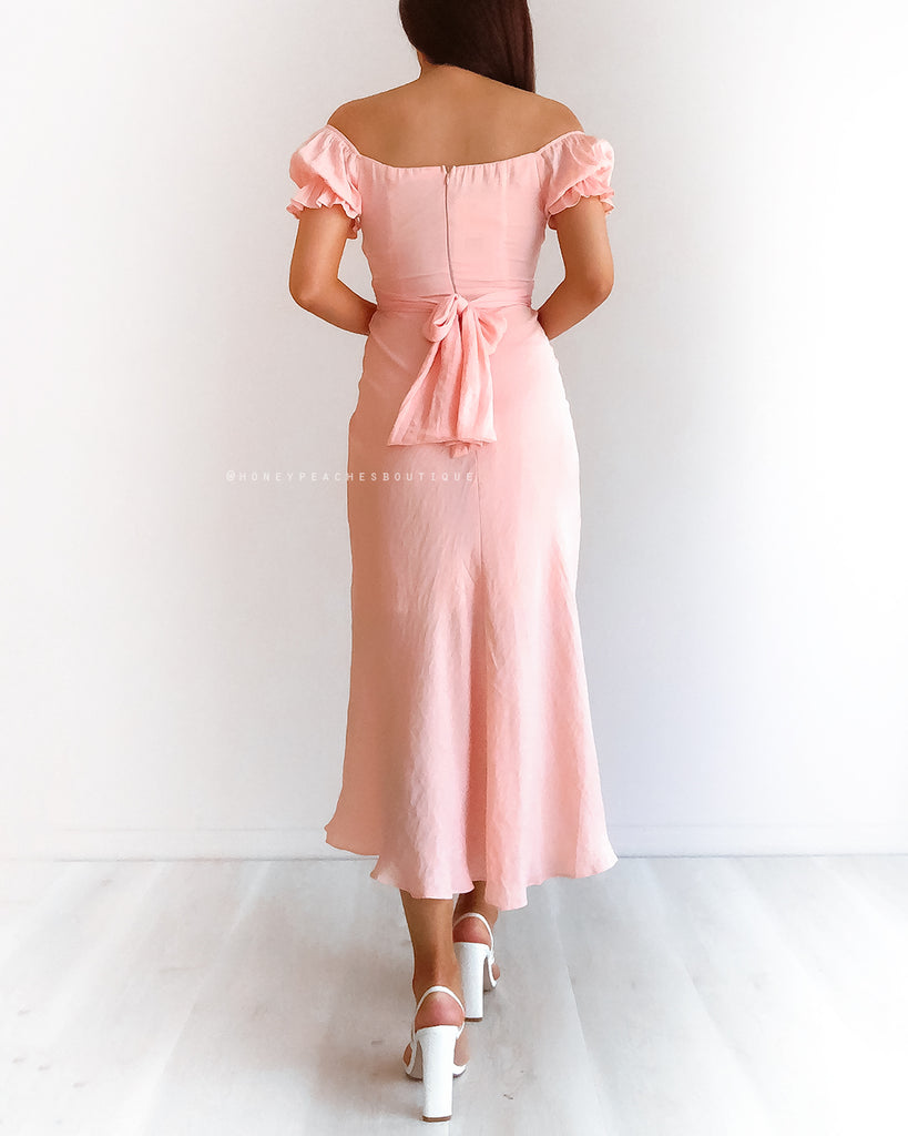 Dinah Midi Dress - Peach