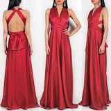 Amore Multi Way Maxi Dress - Red Satin