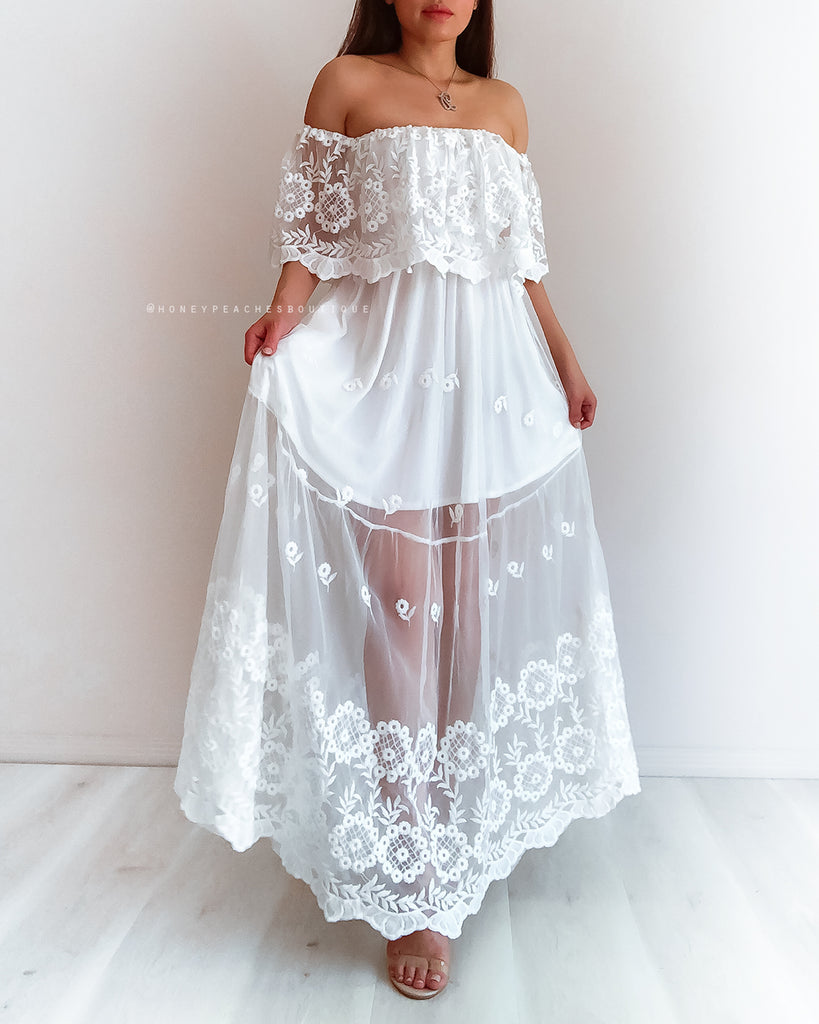 Luna Dress - White