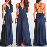 Lovers Lane Maxi Dress - Blue
