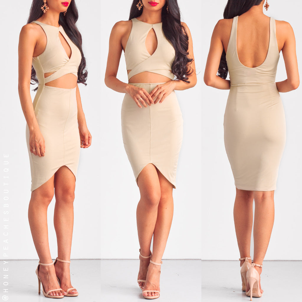 Remember The Good Times Dress - Beige