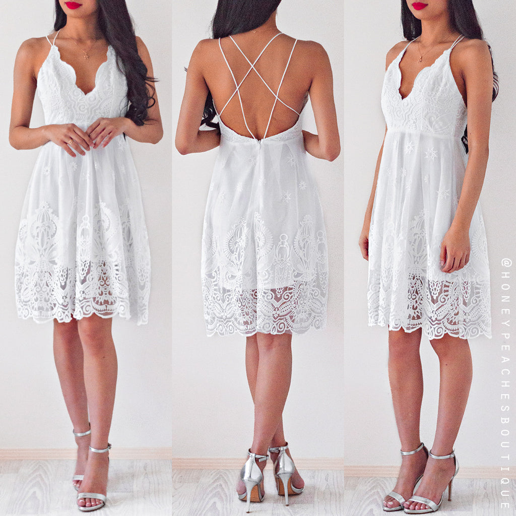 Darling Let's Dance Dress - White