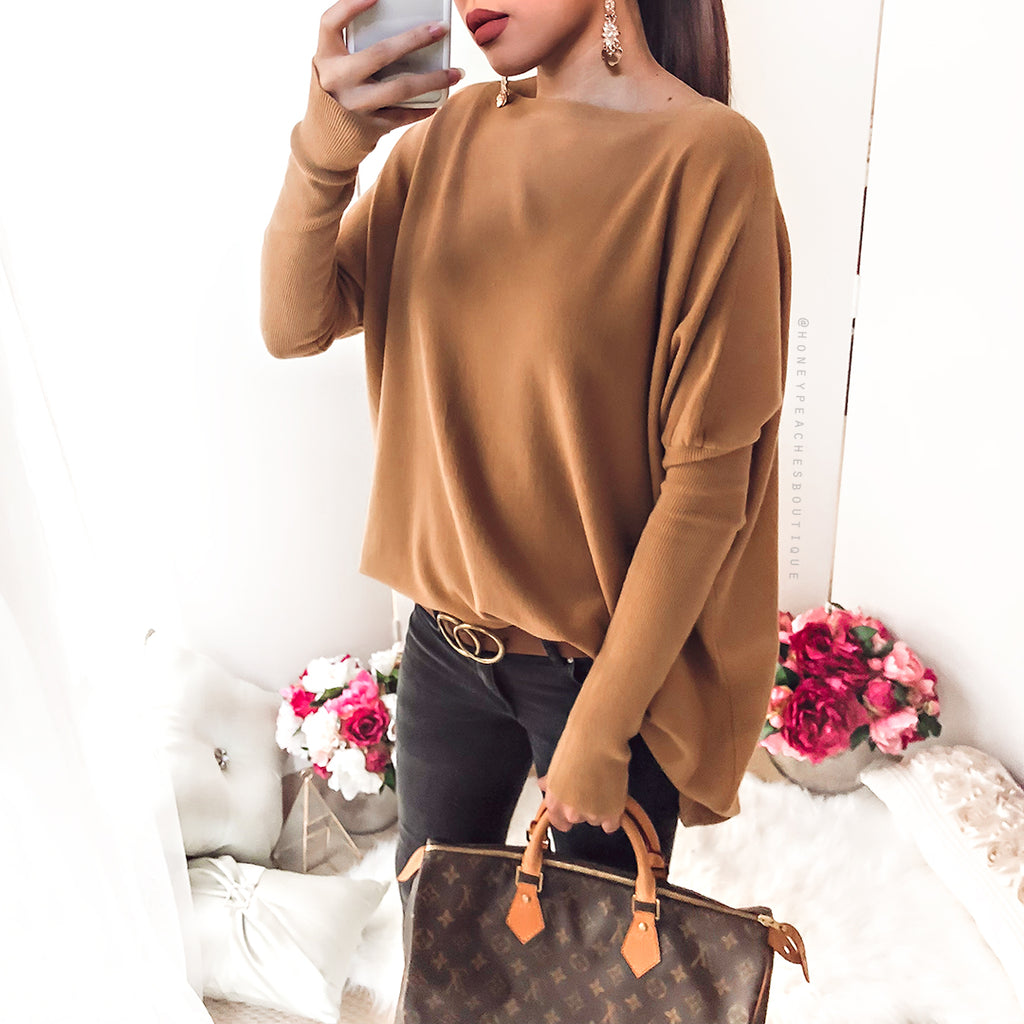 Shed A Light Knit - Tan
