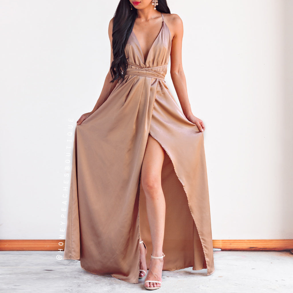 The Way I Love You Maxi Dress - Mocha