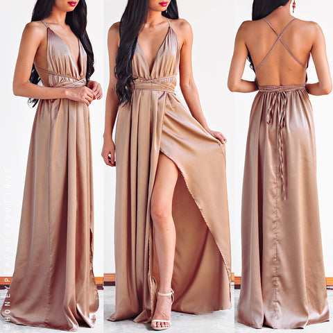 a6dba578d47 The Way I Love You Maxi Dress - Mocha