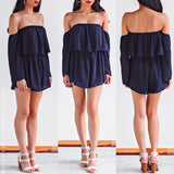 Lost My Mind Playsuit - Navy