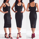 Hold On Me Midi Dress - Black