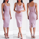 Hold On Me Midi Dress - Light Mauve