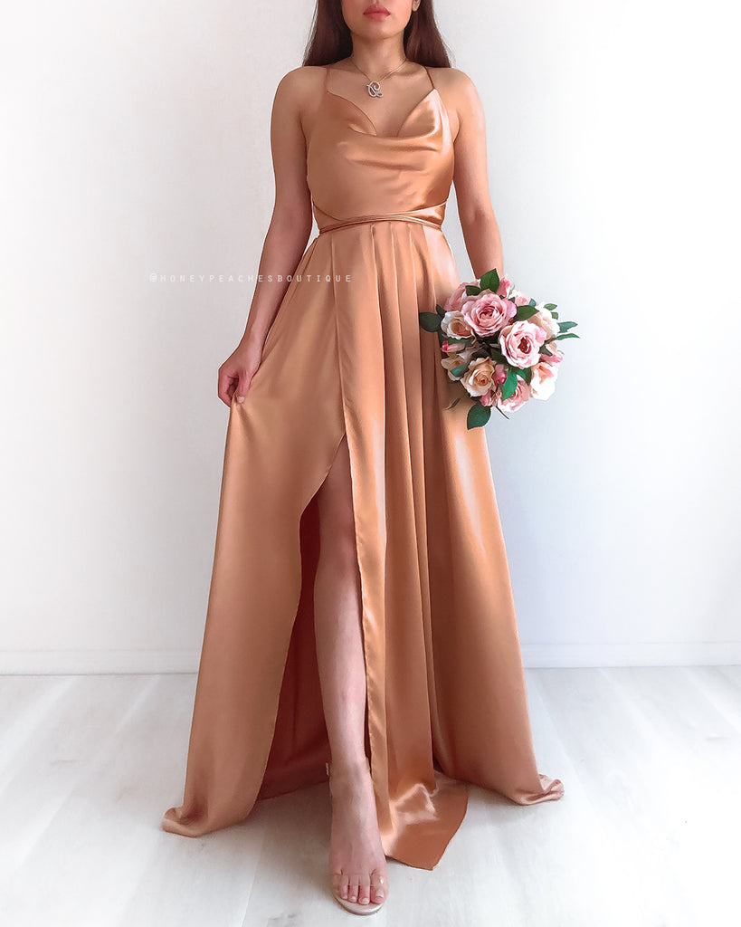 Made To Order: Samira Maxi Dress 2.0 - Gold