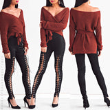 Pre-Order: Top That Wrap Knit Sweater - Rust