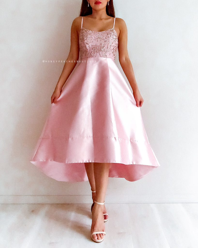 Everly Glitter Dress - Pink