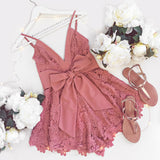 Cupid's Bow Playsuit - Dusty Pink