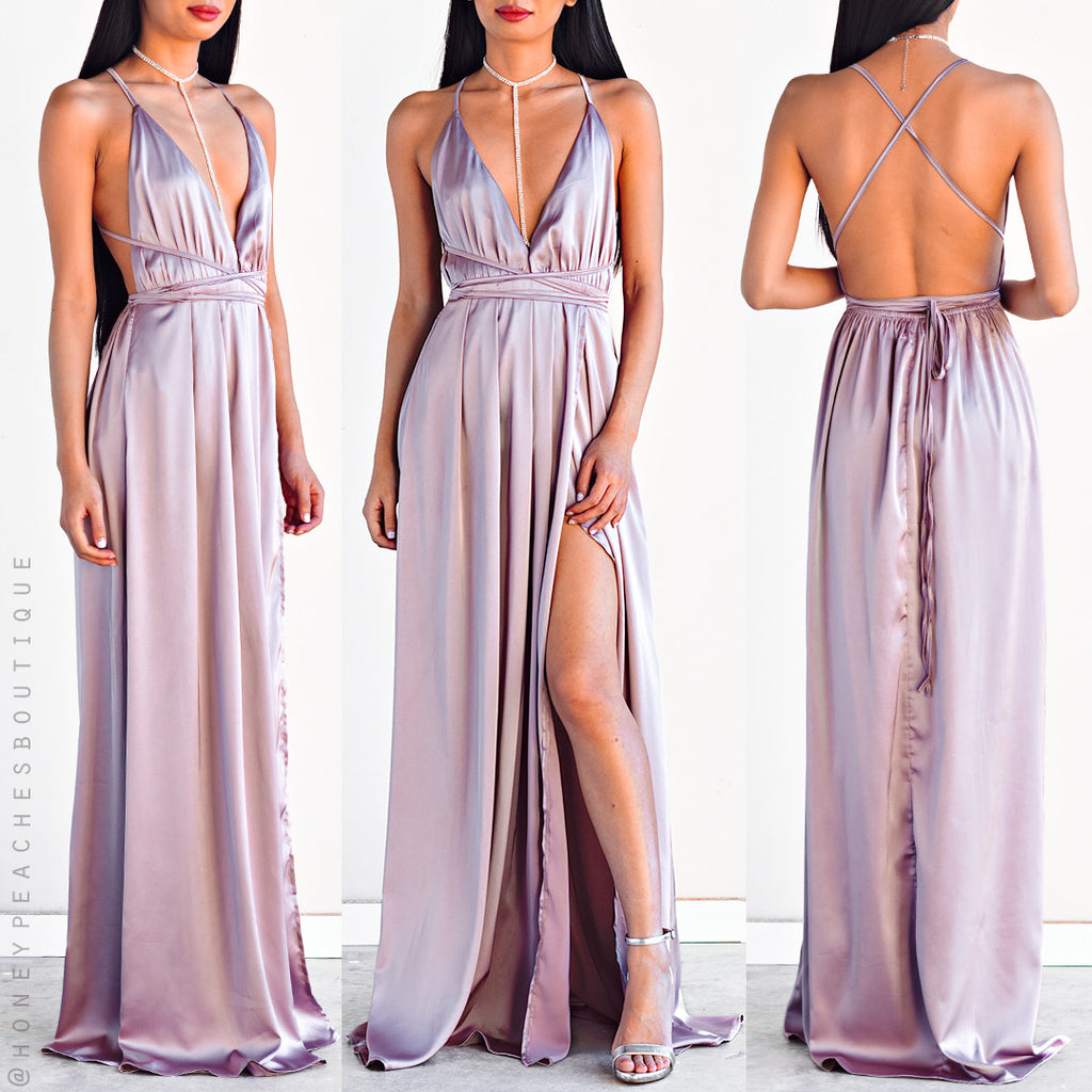 The Way I Love You Maxi Dress - Light Mauve