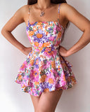Mia Playsuit - Purple Floral