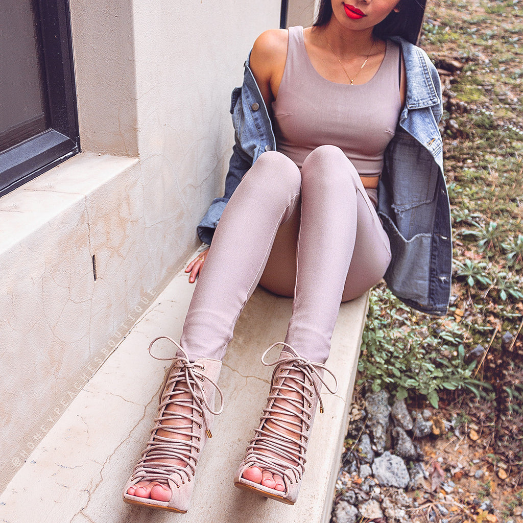 Riding Solo High Waisted Pants - Mocha