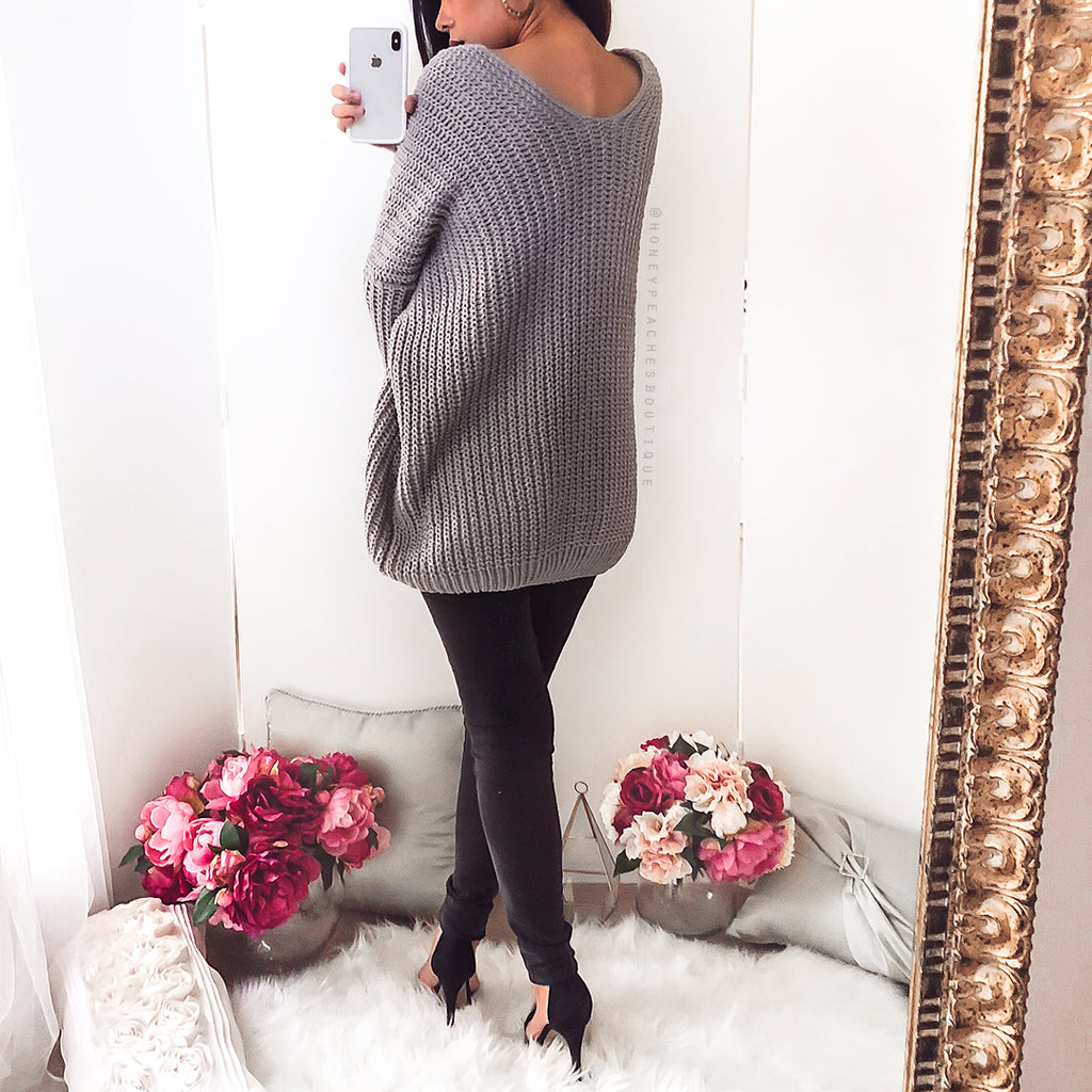 Like No Other Knit - Grey