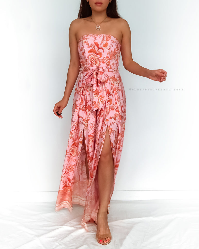 Rosa Jumpsuit - Pink/Orange Print