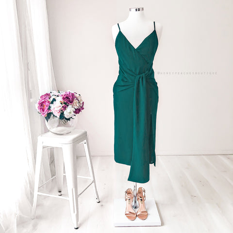 Estelle Midi Dress - Emerald Green