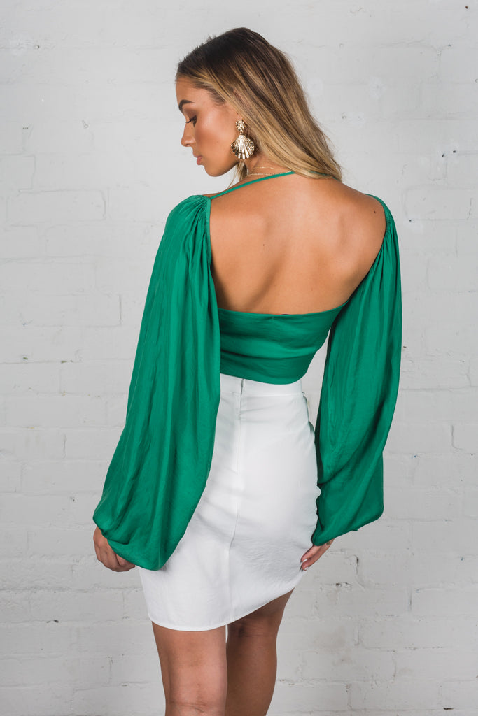 Sleep Walking Top - Royal Green