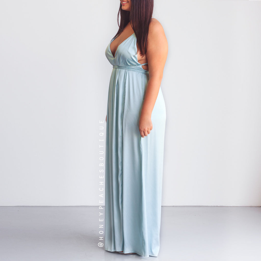 The Way I Love You Maxi Dress - Baby Blue