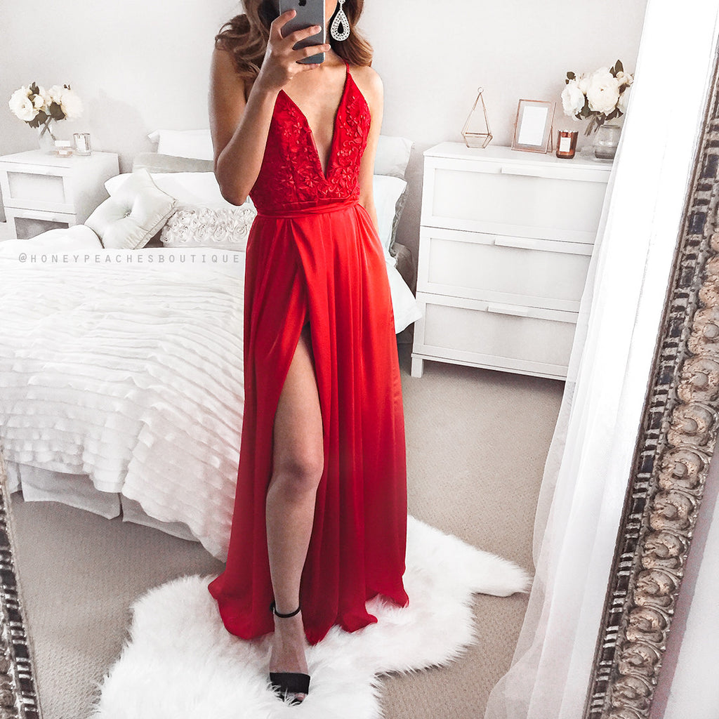 Star Red Dress