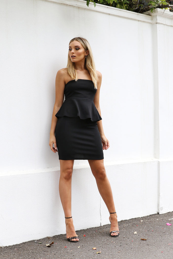Natalie Midi Dress - Black