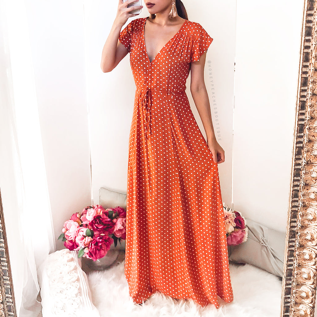 Oakley Maxi Dress - Orange