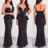 Here I Am Maxi Dress - Black