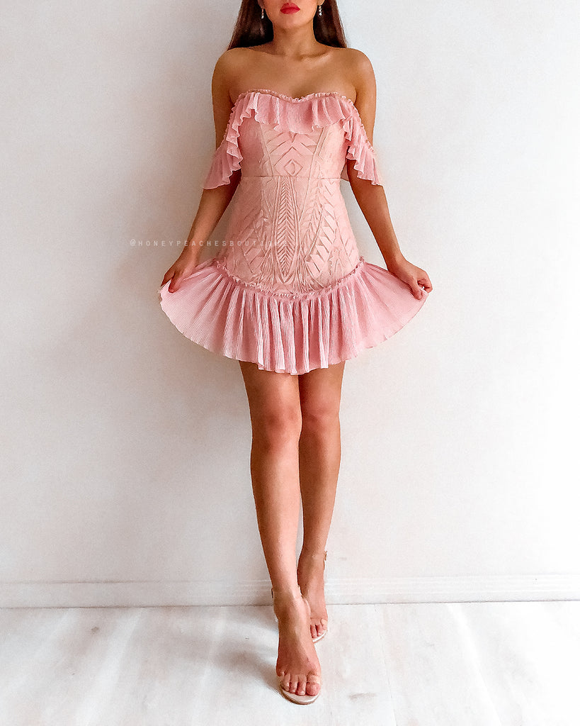 Lydia Mini Dress - Blush