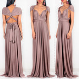 Belle Multi Way Maxi Dress - Mocha Matte