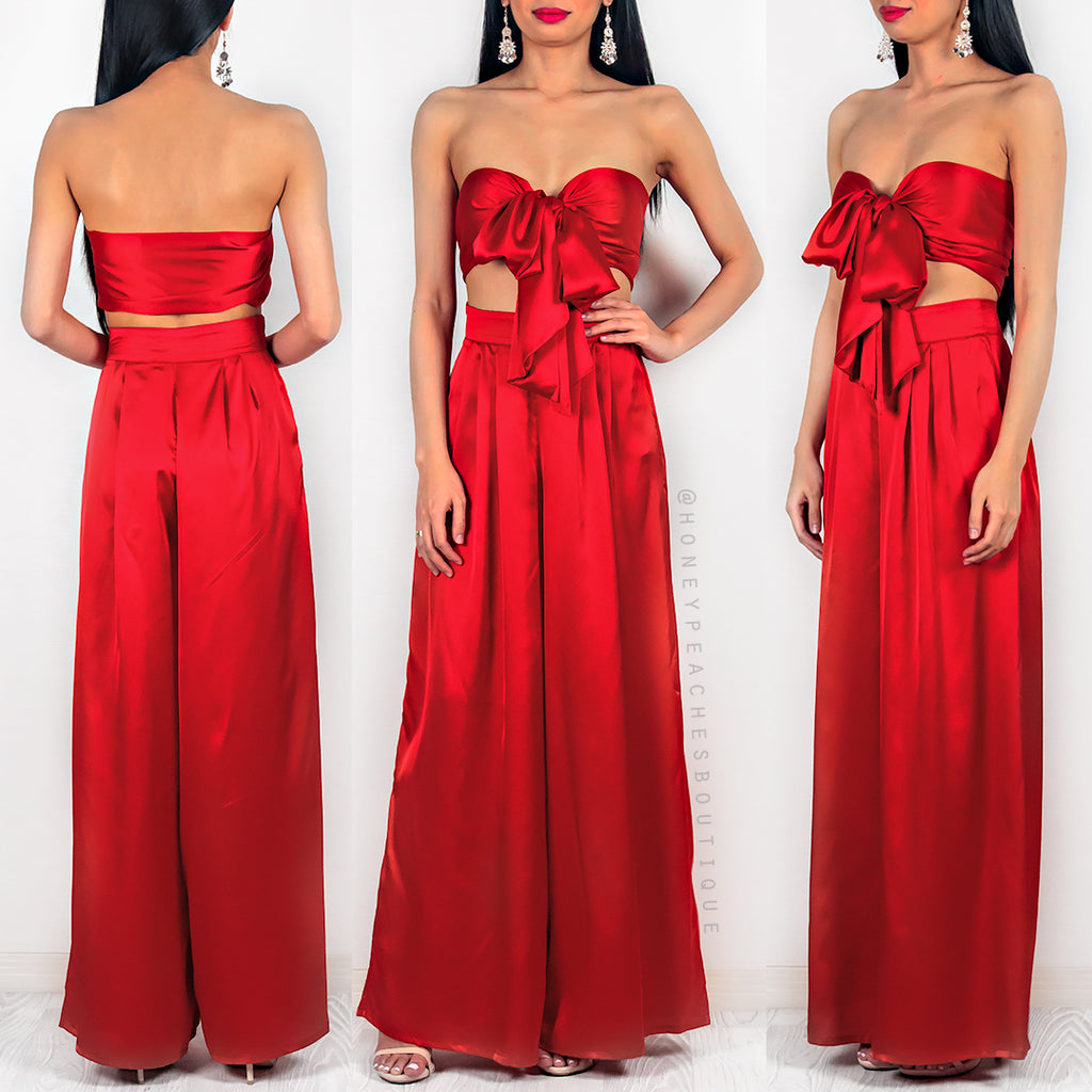 La Vida Two Piece Set - Red
