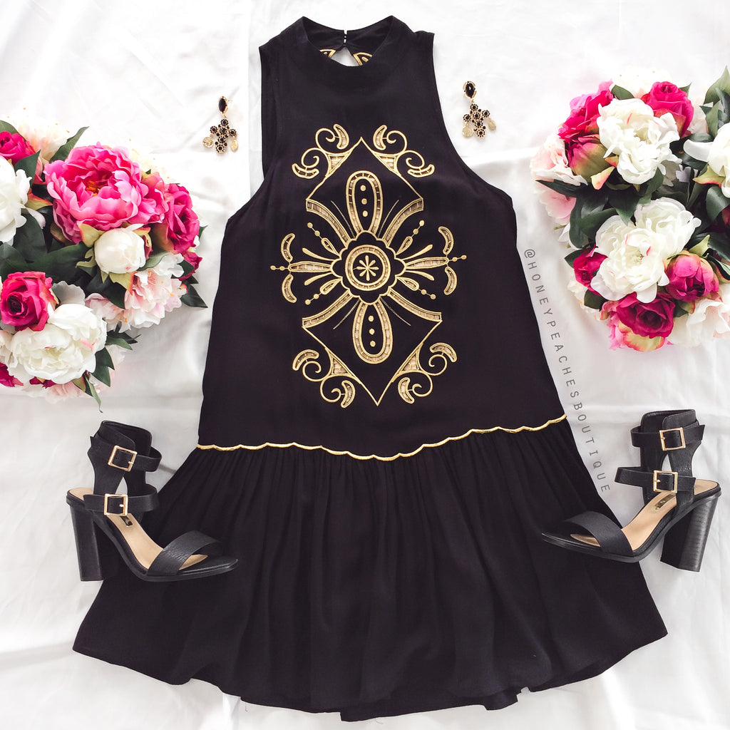 Lost Without You Dress - Black