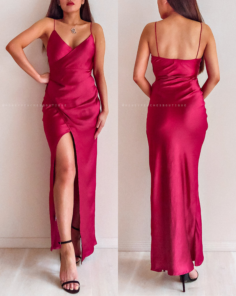 Valerina Midi Dress - Wine