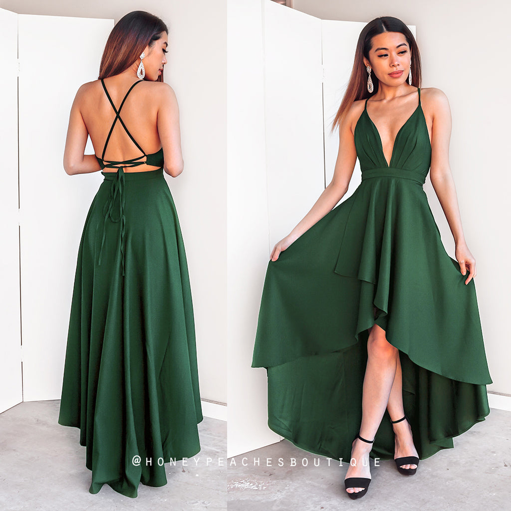 This Love Is Forever Dress - Emerald Green – Honey Peaches