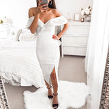 Faithfully Yours Midi Dress - White