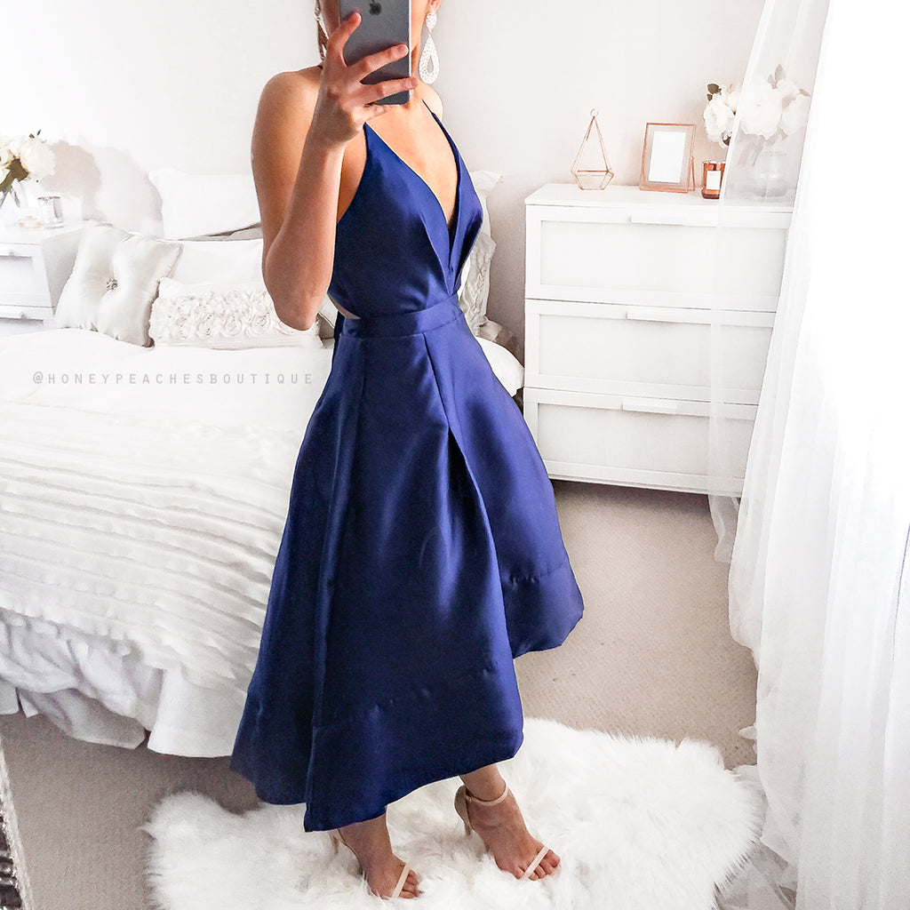 My Love Story Dress - Navy