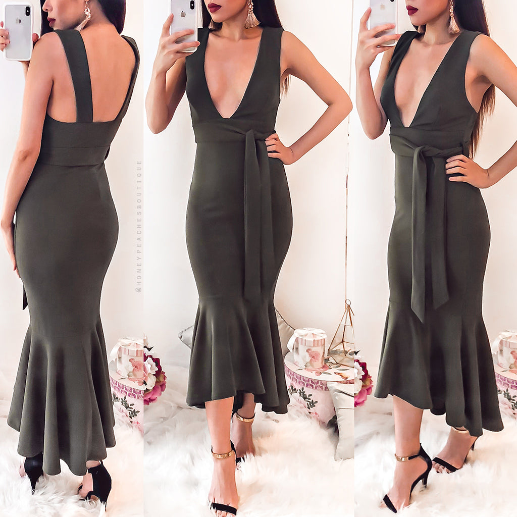 Only Lovers Midi Dress - Khaki