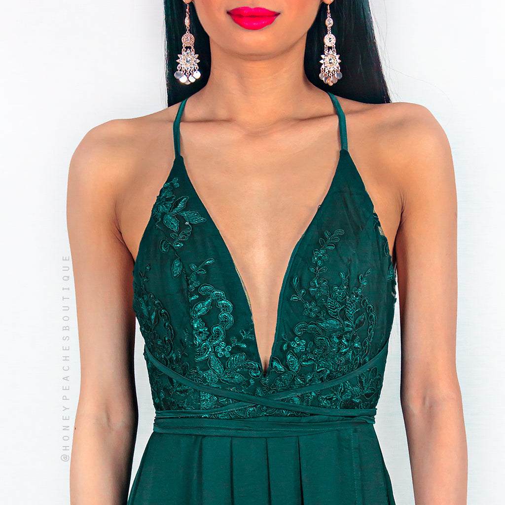 Star Of The Show Maxi Dress - Emerald Green