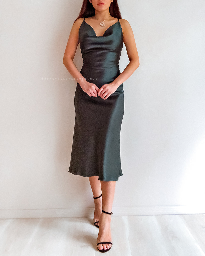 Palmer Midi Dress - Forest Green