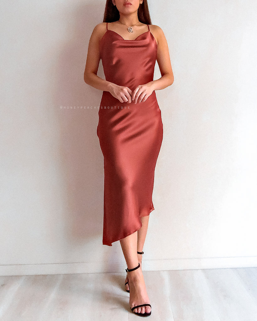 Emery Midi Dress - Rust