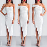 Secret Haven Multi Way Midi Dress - White