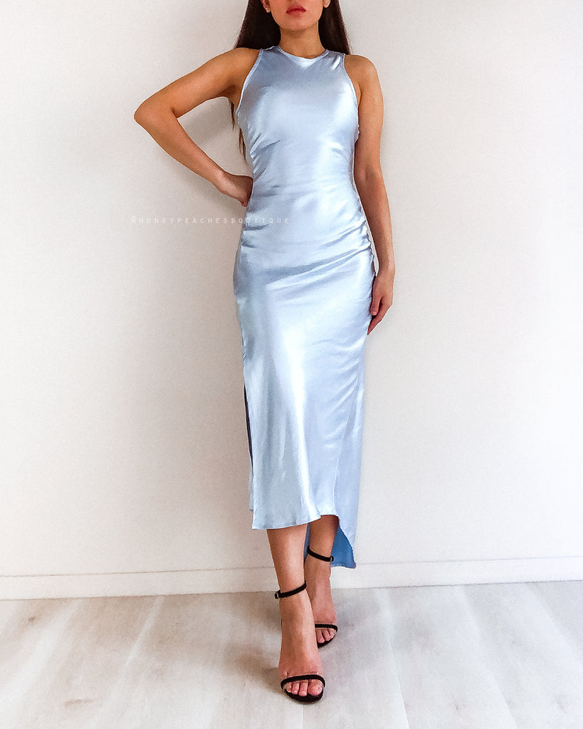 Yara Midi Dress - Baby Blue