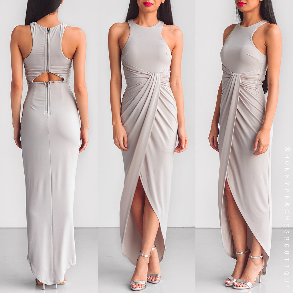 Pursuit Of Happiness Dress - Light Grey