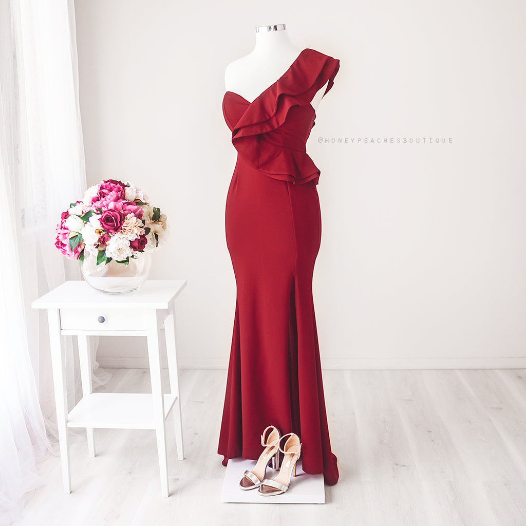 Gabriella Maxi Dress - Maroon