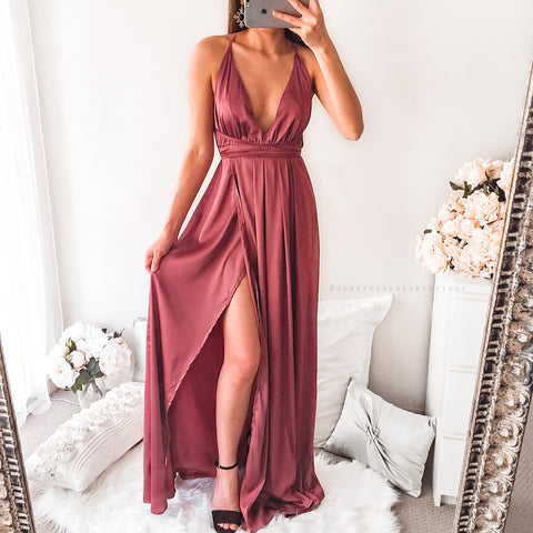 The Way I Love You Maxi Dress - Maroon