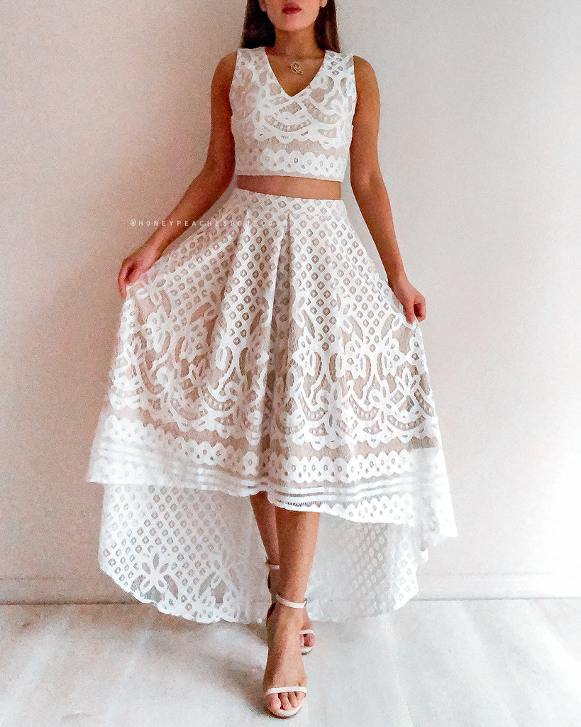 Madelyn Two Piece Set - White
